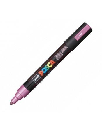 Marker UNI PC-5M Posca 1,8-2,5 mm roz metalizat