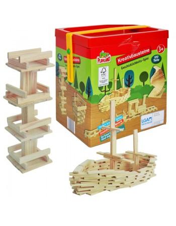 Joc constructii din lemn, 120 piese
