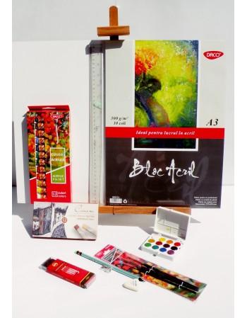 Kit pentru pictura cu culori acrilice A3 v.3