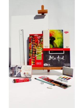 Kit pentru pictura cu culori acriliceA4 v.2