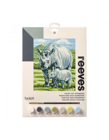 Pictura pe numere Black Rhino Reeves