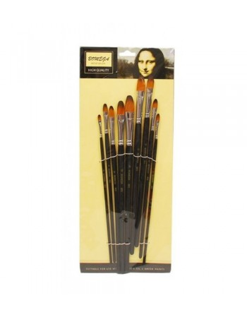 Set 9 pensule sintetice cu varf semirotund Bomei 803