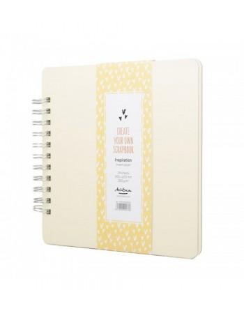 Sketchbook cu spira Scrapbook Inspiration Cream Drasca