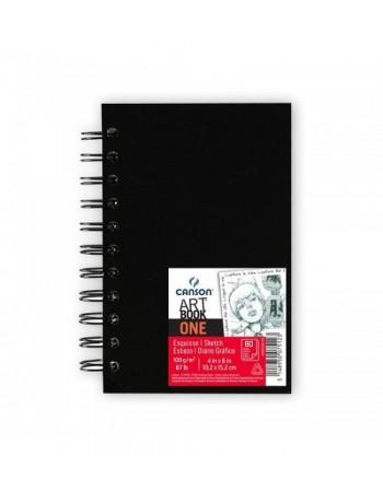 Carnet de schite cu spira Canson Art Book One A5