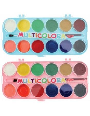 Acuarele 12 Culori Multicolora AR123 DACO