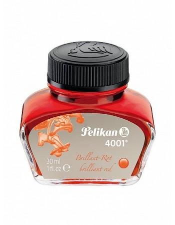 Cerneala 4001, calimara, 30 ml, rosu, Pelikan