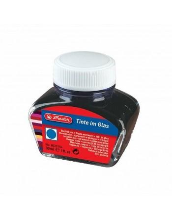Cerneala albastra, calimara 30 ml, herlitz