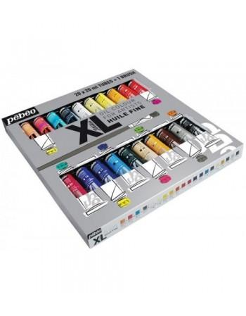 Set 20 culori de ulei XL Oil Studio + 1 pensula Pebeo