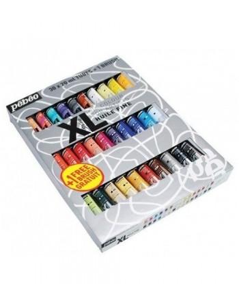 Set 30 culori de ulei XL Oil Studio + 1 pensula Pebeo