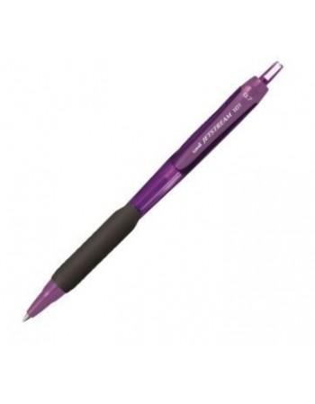 Jetstream 0.7mm, Uni-Ball SXN-101C, violet / pasta albastra