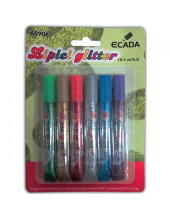 Lipici glitter 6 culori ECADA