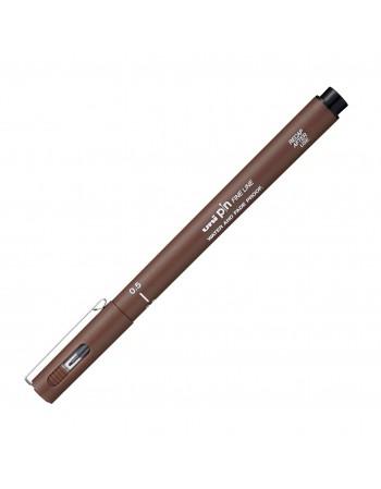 Liner UNI PIN05-200S 0.5mm, pe baza de apa, sepia