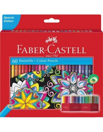 Creioane Colorate 60 Culori  Faber-Castell