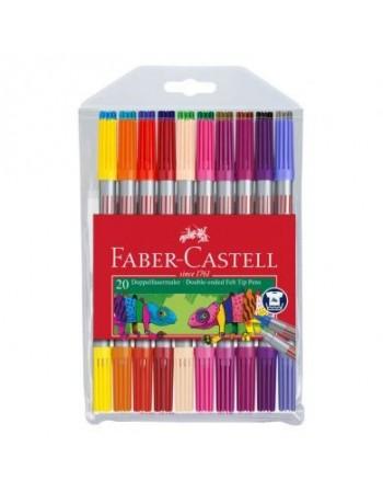 Carioca Faber-Castell- 20 culori - 2 capete