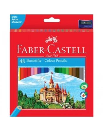 Set 48 Creioane colorate Faber-Castell Eco L, cu ascutitoare