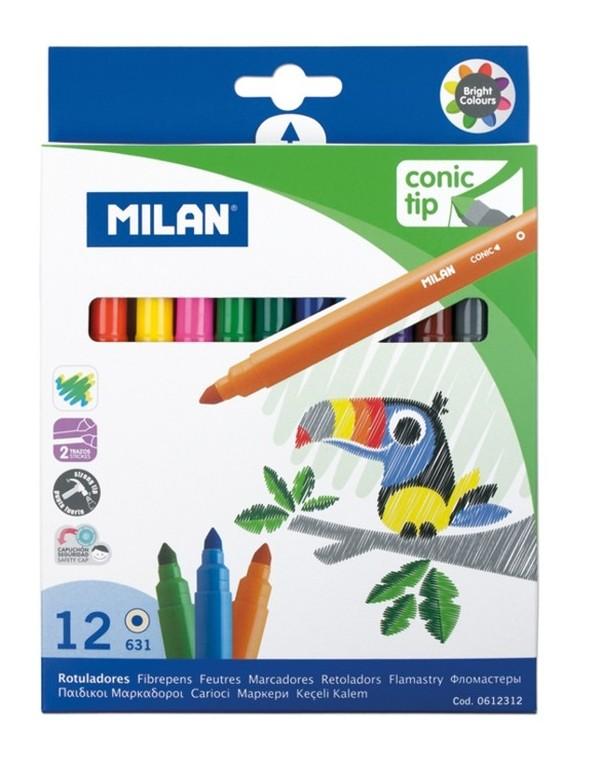 Carioca 12 culori varf conic Milan