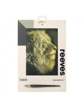 Gravura predesenata Lion...
