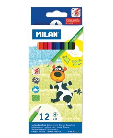Creioane color 12 culori Milan