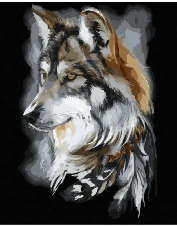 Kit pictura pe numere Wolf...