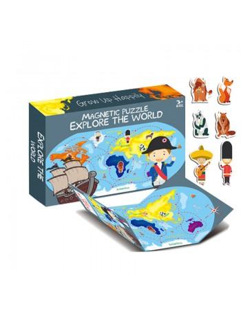 Joc educativ Harta lumii cu...